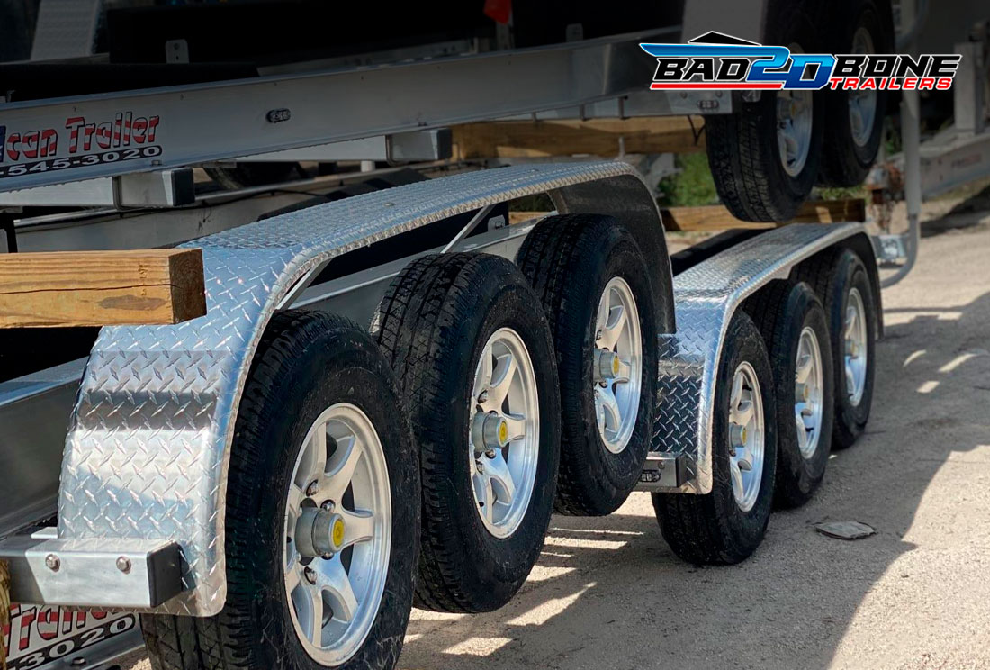 Boat trailer tites and rims